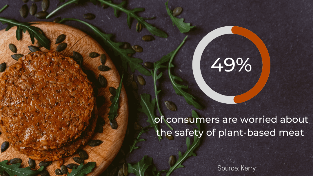 almost half of consumers are worried about the plant-based meat safety